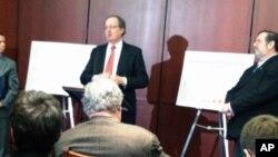 美國製造業在國會舉行記者會
