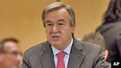 UNHCR High Commissioner Antonio Guterres in Geneva, Switzerland, 04 Oct 2010