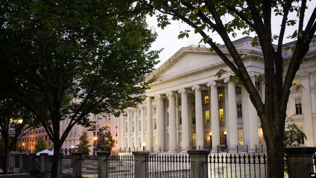 位於首都華盛頓的美國財政部大樓。
