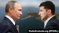 Presiden Rusia Vladimir Putin (kiri) dan Presiden Ukraina Volodymyr Zelensky akan bertemu di Paris.