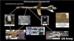 این سلاحها در ماه نوامبر توسط ناو آمریکایی یو اس اس فارست شرمن در دریای عمان کشف و ضبط شد.