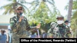 Le président Paul Kagame et son homologue Philip Nyusi du Mozambique, le 23 septembre 2021. (Twitter)