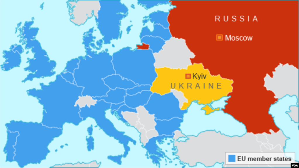 Survey Reveals Few Americans Know Ukraine Location - Russia location