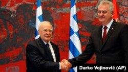 Predsednici Grčke i Srbije, Karolos Papuljas i Tomislav Nikolić, Beograd 18. jun 2013.