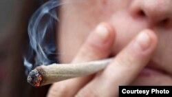 Rokok ganja atau mariyuana, yang mulai dilegalkan di beberapa negara bagian Amerika Serikat.