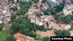 Banjir pada awal tahun merendam 169 lokasi di wilayah Jabodetabek (foto courtesy: BNPB).