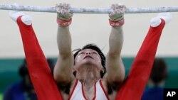 Kohei Uchimura của Nhật Bản tại Olympic Rio, 8/8/2016.