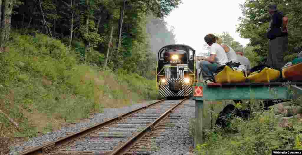 راه آهن آديرونداک در ايالت نيويورک