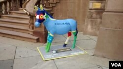 Keledai Demokrat dari negara bagian Colorado di Philadelphia