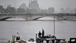 Sông Seine dâng nước gây ngập lụt, ở Paris, ngày 5 tháng 6, 2016.