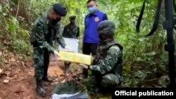 ဇူလိုင္လ၁၅ရက္ေန့က ခ်င္းမိုင္ျပည္နယ္ ဖန္ျမိဳနယ္ထဲမွာ ဖမ္းမိတဲ့မူးယစ္ေဆး၀ါးမ်ား (နယ္ျခားေစာင့္တပ္)