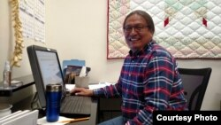 Pictured is Thomas Eagle Staff, Cheyenne River Sioux Tribe Radio Station Project Development Manager.