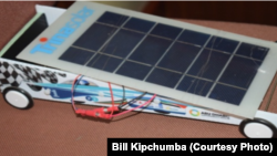 Solar Car designed and Assembled by Riziki Mwaka and Judy Wangoi at the Petroleum Institute.