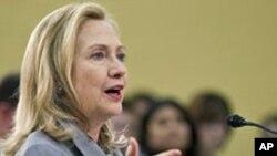 美國國務卿希拉里•克林頓二月二十九日在美國國會上就北韓問題進行作證
