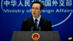 "Juru bicara Kementerian Luar Negeri China Hong Lei mengatakan, Beijing minta ""klarifikasi"" atas keputusan pengadilan Spanyol terhadap pejabat China (foto: dok)."