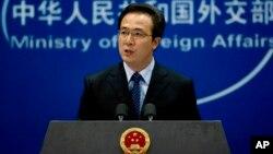 Juru bicara Kementerian Luar Negeri China, Hong Lei menegaskan dukungan Beijing bagi solusi damai di Suriah (foto: dok).