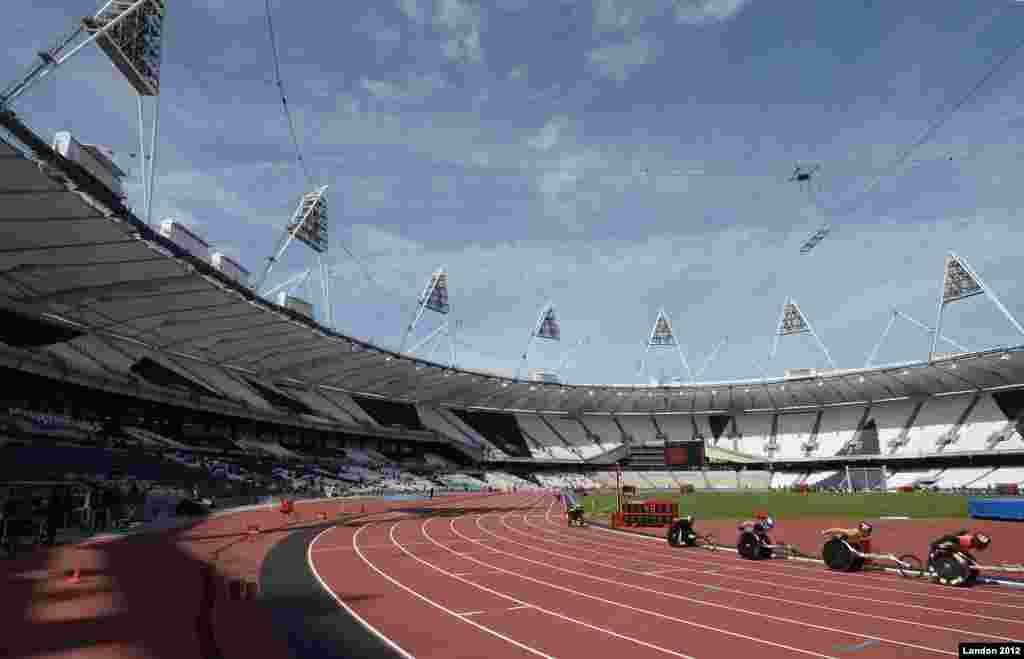 Pista olímpica donde se correrán las competencias de discapacitados.