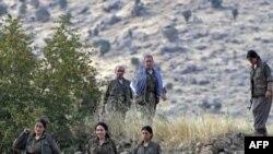 «Քրդստանի աշխատավորական կուսակցության» մարտիկները Քանդիլի լեռներում, Իրաք