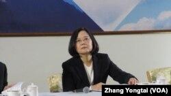 台湾总统蔡英文(美国之音张永泰拍摄)