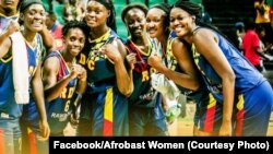 Ba Léopards Séniors ya basi balongi équipe nationale yaCap Vert78-46 na tournoi ya finale ya Afrobaskeball, naDakarnaSénégal, 14 août 2019. (Facebook/Afrobasket Women)