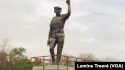 La statue de Thomas Sankara, Ouagadougou le 17 mai 2020.