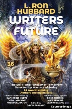 Trang bìa của ấn phẩm Writers of the Future Volume 36 sẽ có in tác phẩm của Anh Lê. Photo by L. Ron Hubbard.