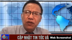 Ông Lê Văn Dũng phát biểu trực tiếp vào tháng 4-2021 trên trên kênh CHTV. Photo Lê Dũng VoVa.