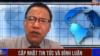 Nhà báo độc lập Lê Văn Dũng bị bắt