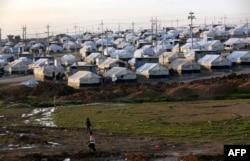 Kamp di Khanke, beberapa kilometer dari perbatasan dengan Turki di provinsi Dohuk (foto: dok).