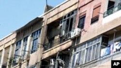 19일 교전이 벌어진 시리아 수도 다마스쿠스 시내.