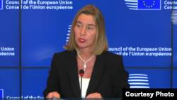 အီးယူ ႏုိင္ငံျခားမူ၀ါဒေရးရာ အႀကီးအကဲ Federica Mogherini
