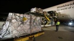 美國第二批撤僑飛機攜帶醫療物資前往中國,美企捐贈排第一