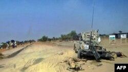 Des corps de présumés soldats rebelles appuyant Riek Machar, vus à Bor le 28 déc. 2013