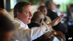 Thủ tướng Anh David Cameron nói chuyện tại hội nghị thượng đỉnh của Khối Thịnh vượng Chung ở Colombo, Sri Lanka, 16/11/2013