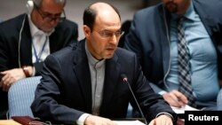 Wakil Dutabesar Iran di PBB, Hossein Dehghani, mengecam resolusi Komisi HAM Majelis Umum PBB terhadap Teheran (foto: dok).