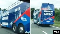 საფრანგეთის ნაკრების ტრიუმფისთვის გამზადებული ავტობუსი