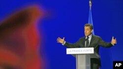 Tổng thống Sarkozy vận động tranh cử ở thành phố Arras, miền bắc nước Pháp