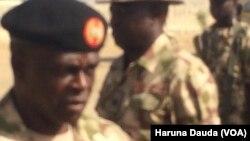 Janar Rogers Nicholas kwamandan rundunar sojojin Najeriya dake fafatawa da 'yan Boko Haram a arewa maso gabashin kasar