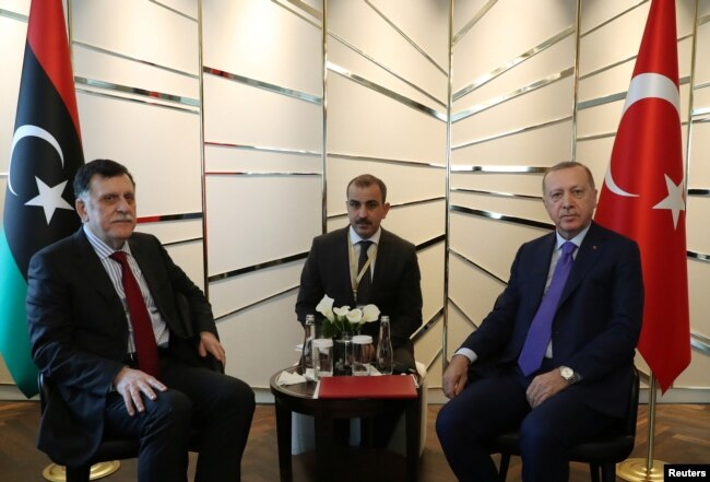 Cumhurbaşkanı Erdoğan, Libya'nın BM tarafından tanınan Başbakanı Feyaz el Sarrac'la görüştü
