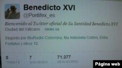 Akun twitter Paus Benediktus @Pontifex akan membuka dialog dan mengirim pesan dalam delapan bahasa (foto: dok).