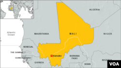 Map of Mali, Africa