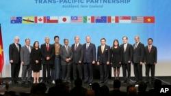 Zajednička fotografija predstavnika zemljama koje su potpisale sporazum o Transpacifičkom partnerstvu