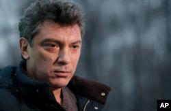 FILE - Russian opposition leader Boris Nemtsov