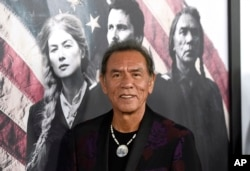 "Wes Studi arrives at the premiere of ""Hostiles"" at the Samuel Goldwyn Theater on Dec. 14, 2017, in Beverly Hills, Calif."