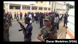 Militares e policias nas ruas de São Tomé e Príncipe (Arquivo)