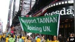 支援台湾入联的民众
