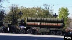 러시아의 S-400 대공 방어 미사일. (자료사진)