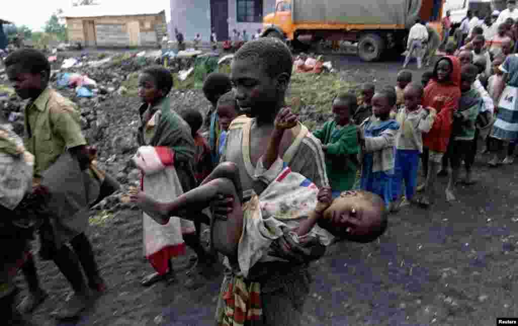 کودکان نیز از قربانیان بزرگ نسل کشی رووندا بودند، جولای ۱۹۹۴