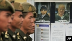 Aging leaders Nuon Chea and Khieu Samphan are facing atrocities crimes charges in two phases of a trial that was broken apart to expedite the process.