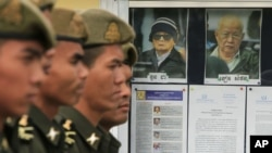 Khieu Samphan, the former head of state for the regime, is on trial for crimes including genocide, alongside Khmer Rouge ideologue Nuon Chea.